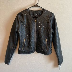 Mossimo brand women's faux leather jacket